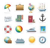 ustalona ikony podróż Obrazy Stock