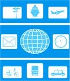 ustalona ikony podróż ilustracji