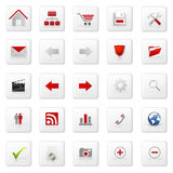 ustalona ikony sieć Obraz Stock