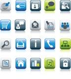 ustalona ikony sieć ilustracja wektor