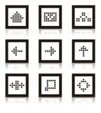 ustalona ikony sieć royalty ilustracja
