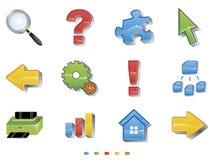 ustalona ikony sieć Fotografia Stock