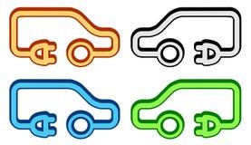 Ustalona kolorowa elektryczna pojazd ikona Zdjęcia Royalty Free