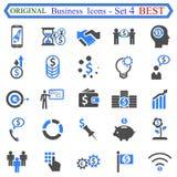 Ustalona liczba cztery Biznesowe ikony Obrazy Stock