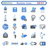 Ustalona liczba jeden Biznesowe ikony - akcyjny wektor Zdjęcie Stock