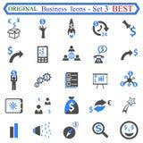 Ustalona liczba trzy Biznesowe ikony - akcyjny wektor Zdjęcie Royalty Free