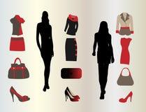 ustalona mody kobieta royalty ilustracja