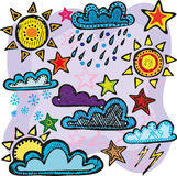 ustalona pogoda Fotografia Royalty Free