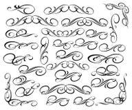 Ustalona retro kaligraficzna dekoracyjna element elegancja również zwrócić corel ilustracji wektora royalty ilustracja