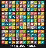 Ustalona telefon ikona Obrazy Stock