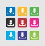 Ustalone ściągania colorfull ikony Obrazy Stock