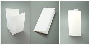 Ustalone białe broszury Obrazy Royalty Free