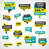 Ustalone cen etykietki Zdjęcia Stock