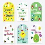 ustalone Easter etykietki Fotografia Stock