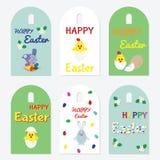ustalone Easter etykietki Zdjęcia Stock