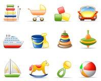 ustalone ikon zabawki Zdjęcia Royalty Free