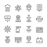 Ustalone kreskowe ikony domowi systemy royalty ilustracja