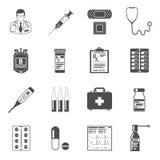 Ustalone medyczne ikony Zdjęcia Stock