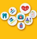 Ustalone medyczne ikony dla sieć projekta Zdjęcia Stock