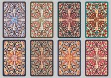 Ustalone retro karty Fotografia Royalty Free