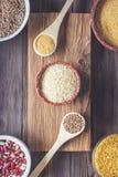 Ustalonego Tradycyjnego organicznie weganinu składnika Super jedzenie w Środkowy Wschód i Azjatyckich kulinarnych zbożach Zdjęcie Stock