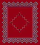 Ustalonej kwadrat ramy ornamentacyjny etniczny również zwrócić corel ilustracji wektora Zdjęcia Stock