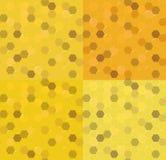 Ustalony bezszwowy honeycomb miodu złoto również zwrócić corel ilustracji wektora Obraz Royalty Free