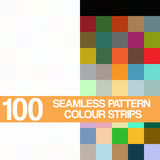 Ustalony bezszwowy wzór, colour paski na białym tle Fotografia Stock