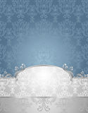 Ustalony Bezszwowy wzór w wiktoriański stylu błękicie i S Fotografia Stock
