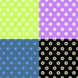 Ustalony bezszwowy wzór zieleni kolory również zwrócić corel ilustracji wektora Zdjęcia Stock