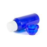 Ustalony butelki medycyny obmycia oko Obrazy Stock