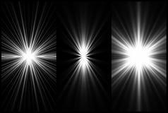 Ustalony Czarny I Biały Oświetleniowy tło. Wektor Obraz Royalty Free
