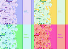 Ustalony deseniowy jaskrawy dla karty z lelują również zwrócić corel ilustracji wektora Zdjęcia Royalty Free