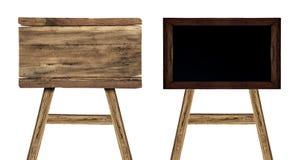 Ustalony drewniany znak odizolowywający na bielu Drewniany stary deska znak Fotografia Stock