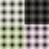 Ustalony geometryczny deseniowy monochromatyczny bezszwowy kwadrat Wektorowy illustr Fotografia Stock