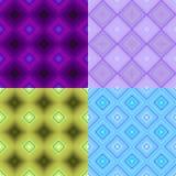 Ustalony geometryczny wzór darked bezszwowy kwadrat Wektorowy Illustratio Zdjęcie Stock