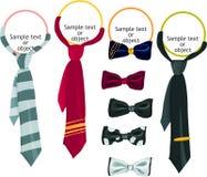 ustalony ikona krawat Obraz Stock