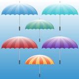 ustalony ikona parasol Fotografia Royalty Free