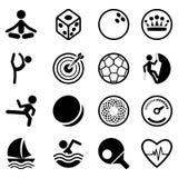 ustalony ikona sport Obrazy Stock