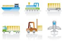 ustalony ikona transport Zdjęcia Royalty Free