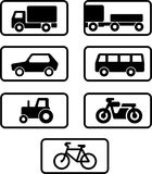 ustalony ikona transport ilustracji