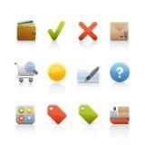 ustalony ikona zakupy Fotografia Stock