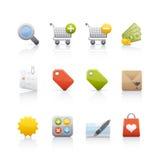 ustalony ikona zakupy Fotografia Royalty Free