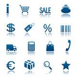 ustalony ikona zakupy Zdjęcie Stock
