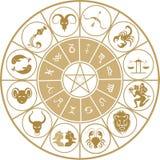 ustalony ikona zodiak Zdjęcia Stock