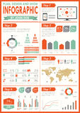 ustalony infographics rocznik Fotografia Royalty Free
