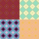 Ustalony kolorowy geometryczny deseniowy ciemny bezszwowy kwadrat Wektorowy illu Obrazy Stock