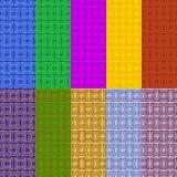 Ustalony koloru wzór 10 wektorów wzór Obrazy Stock
