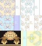 Ustalony kwiecisty wzór dla karty również zwrócić corel ilustracji wektora Zdjęcia Royalty Free