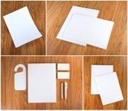 Ustalony materiały projekt Materiały szablon grafika biznesowy korporacyjnej tożsamości szablonu wektor Obrazy Stock